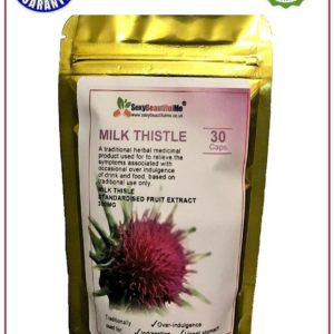 Milk Thistle Capsules High Strength-Detox,Liver,Gallbladder Health-300mg*30Caps