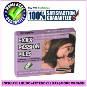 FEMALE SEX PILL ENHANCER- FXXX PASSION CAPSULE-DRIVE WOMEN LIBIDO HIGHER(6Pill)