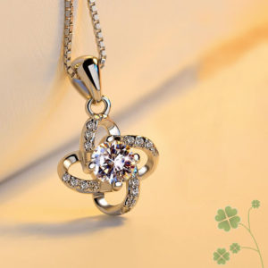 LUXURY- STERLING 925 SILVER INFINITY STAR PENDANT NECKLACE FOR WOMEN