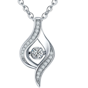 HOT NEW! LUXURY STERLING 925 SILVER ANGEL EYE PENDANT NECKLACE FOR WOMEN