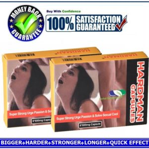HARDMAN SEX CAPSULES / PILLS FOR MEN-HARDER, BIGGER&LONGER PLEASURE(12 CAPSULES)