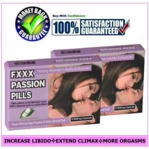 2PAK FEMALE SEX PILLS ENHANCER-FXXX PASSION CAPSULES-DRIVE WOMEN LIBIDO HIGHER