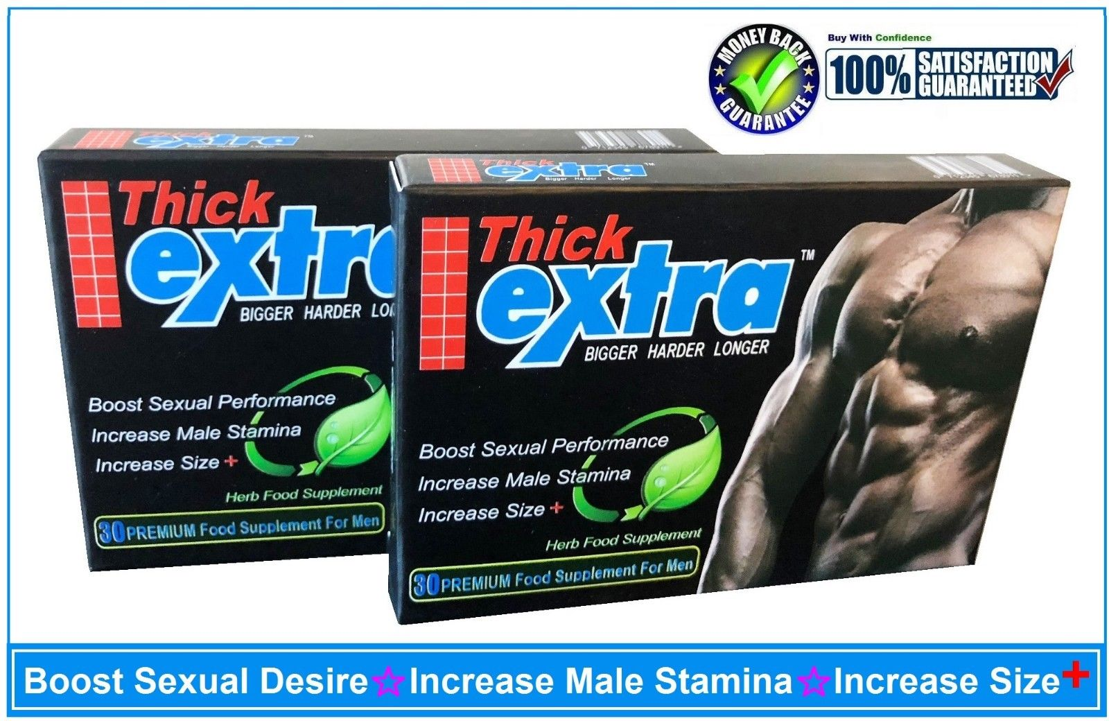 EXTRA THICK-PENIS ENLARGEMENT PILLS,BIGGER, LONGER & THICKER PENIS-60 CAPSULES