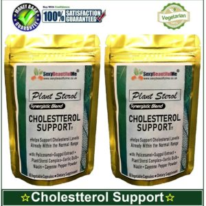 Plant Sterol 400mg-Proven High Cholesterol-95%Phytosterol,βSitosterol 40%-120Cap