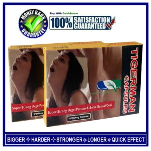 "2BOXES OF "" TIGERMAN "" SEX CAPSULES / PILLS FOR MEN-HARDER, BIGGER&LONGER PLEASURE(12 CAPSULES)"