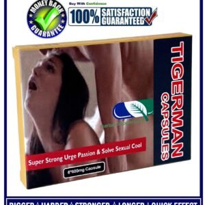 TIGERMAN SEX CAPSULES / PILLS FOR MEN-HARDER, BIGGER&LONGER PLEASURE(6 CAPSULES)