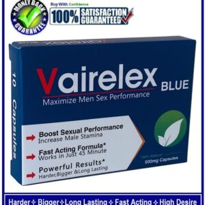 10 Vairelex SEX CAPSULESPILLS FOR MEN-STRONGER,HARDER,THICKER & LONG LASTING