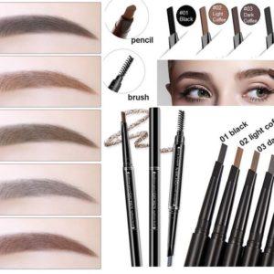 SBM®Waterproof Automatic Rotation Eyebrow Liner Pencil Makeup Eyebrows Pen&Brush