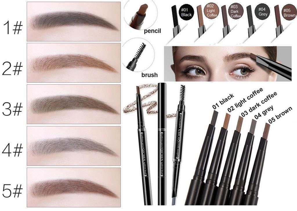 SBM®Waterproof Automatic Rotation Eyebrow Liner Pencil Makeup Eyebrows Pen&Brush