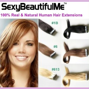 100%Human Hair Extension 20Pcs 50G Tape In Brazilian Real Thick-SexyBeautifulMe®
