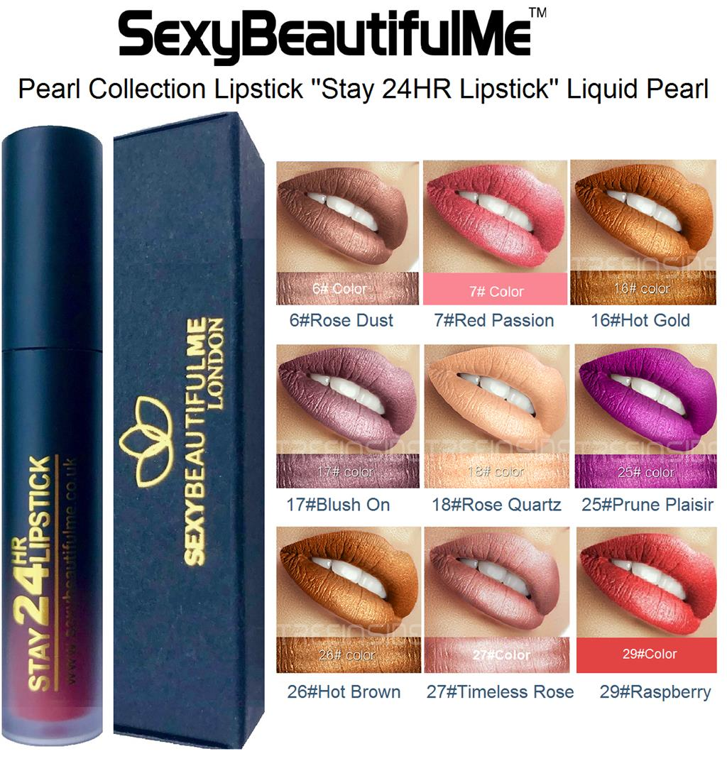 SexyBeautifulMe®Pearl Lipstick Liquid-Stay 24HR Lipstick-Long Lasting Waterproof
