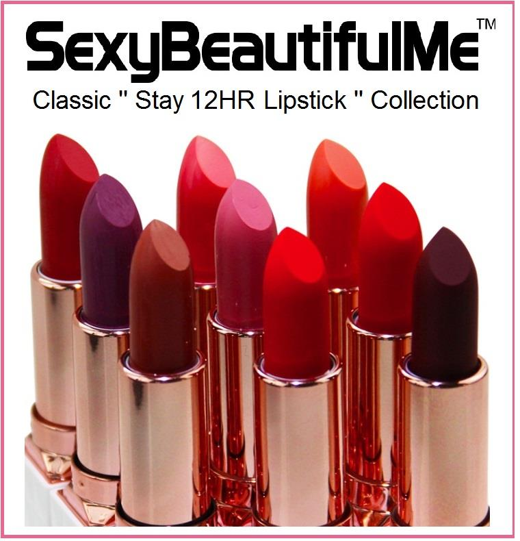SexyBeautifulMe® Classic Lipstick-Stay 12HR Lipstick-Long Lasting Waterproof