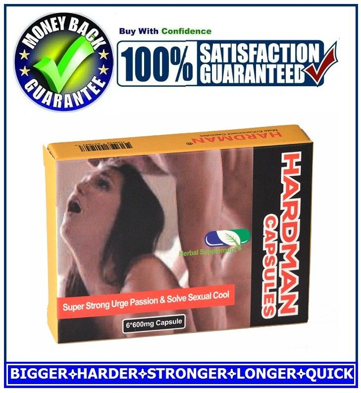 HARDMAN SEX CAPSULES / PILLS FOR MEN-HARDER, BIGGER&LONGER PLEASURE(6 CAPSULES)