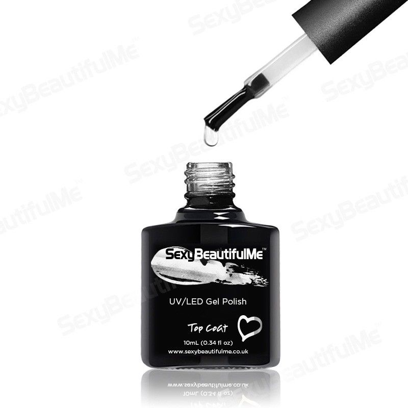 Top COAT GENUINE NAIL GEL POLISH UV LED SOAK OFF 10ml-SexyBeautifulMe®