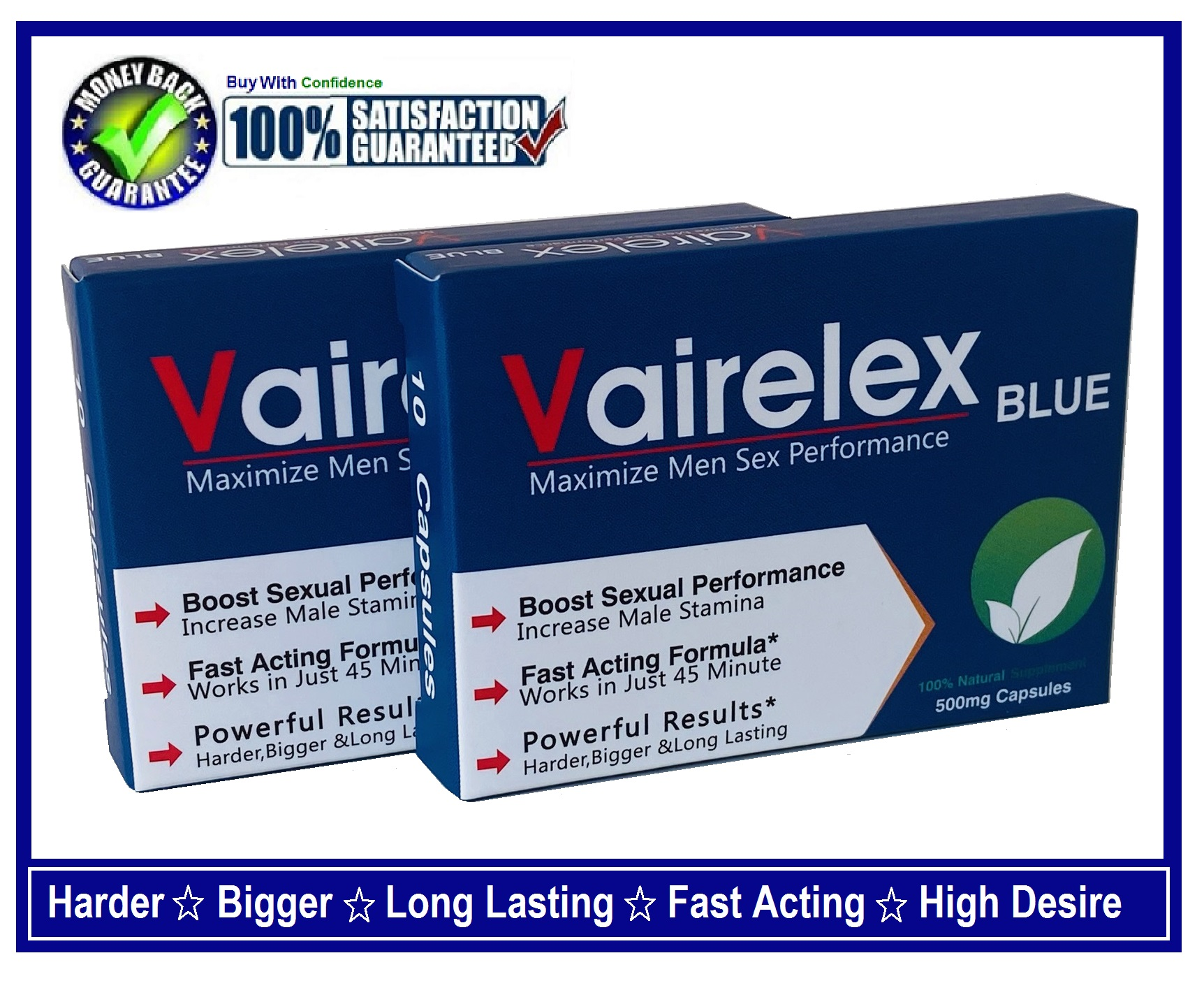 "2BOX OF "" VAIRELEX "" SEX CAPSULES/PILLS FOR MEN-STRONGER,HARDER,THICKER & LONG LASTING"