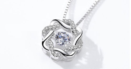 LUXURY STERLING 925 SILVER MAGIC STAR PENDANT NECKLACE FOR WOMEN
