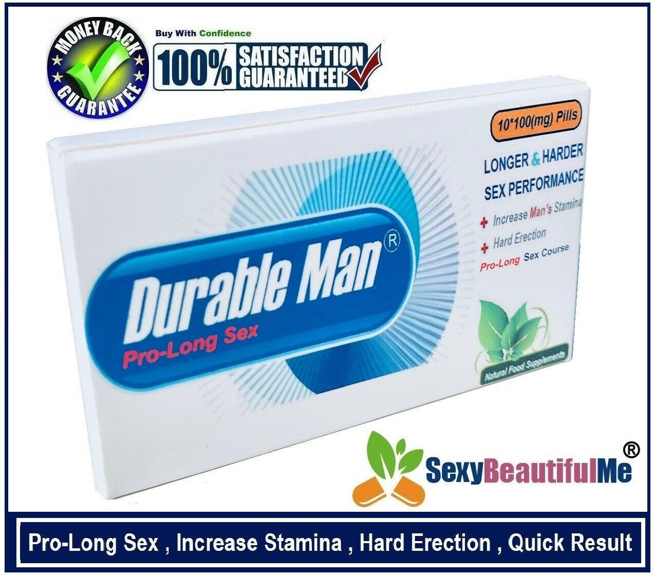 DurableMan Sex CAPS/ PILLS/TABS For Men-Very Long Lasting & Harder,Bigger-10PILL