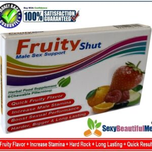 FruityShut Sex Caps/Pills/Tabs For Men-Harder,Stronger&Longer Pleasure-(6 Tabs)